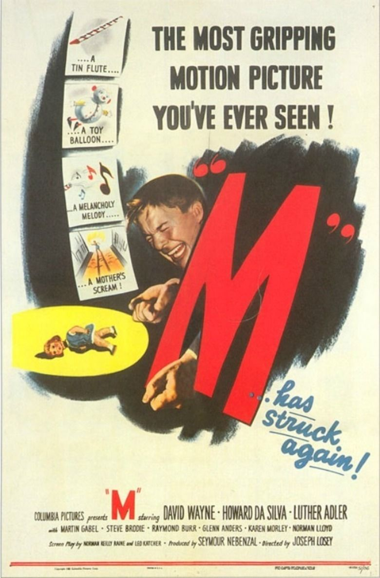 M (1951 film) movie poster