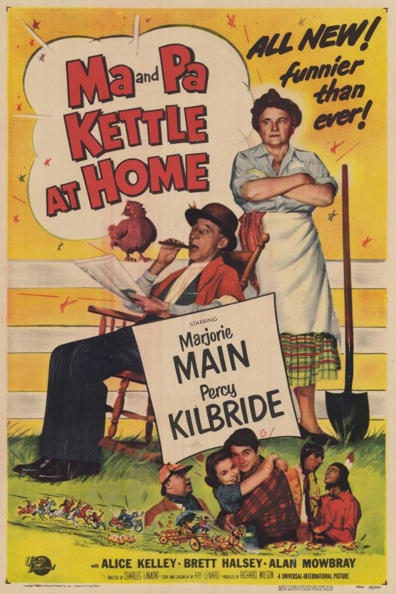 Ma and Pa Kettle at Home movie poster