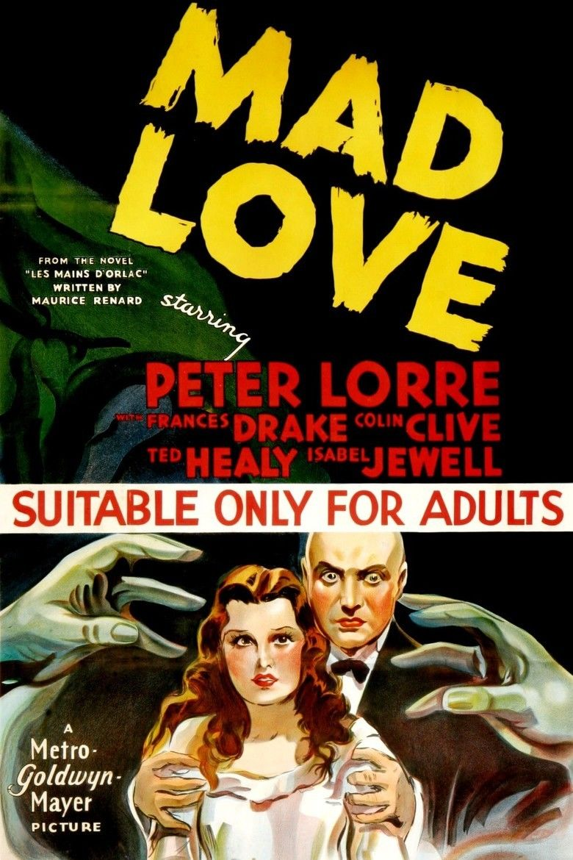 Mad Love (1935 film) movie poster
