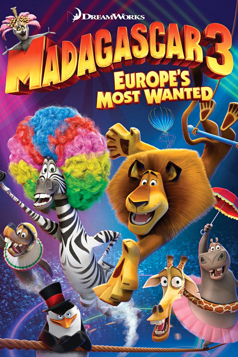 Madagascar 3: Europes Most Wanted movie poster