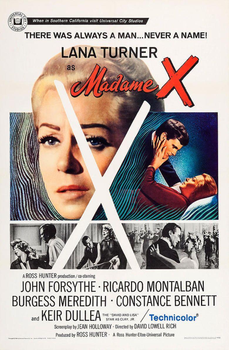 Madame X (1966 film) movie poster