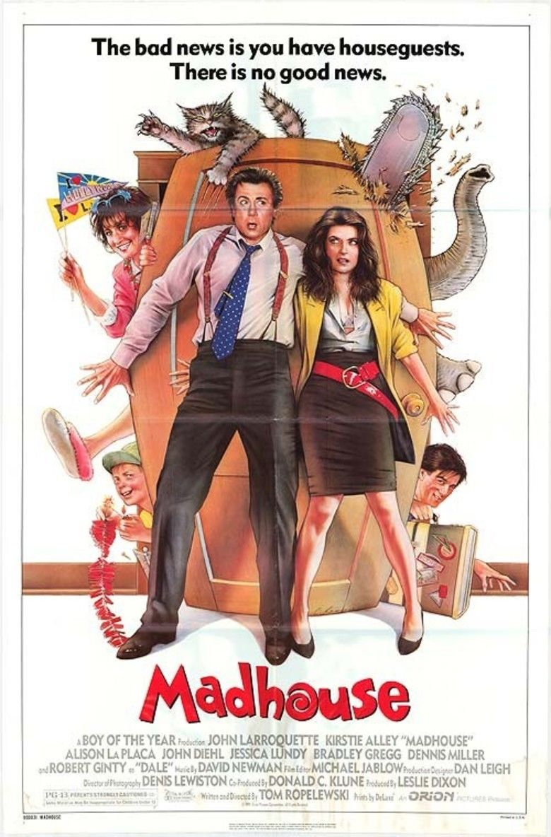 Madhouse (1990 film) movie poster