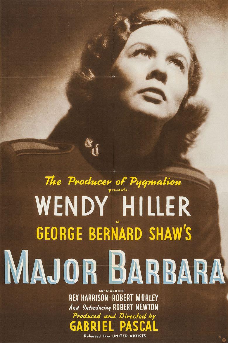 Major Barbara (film) movie poster