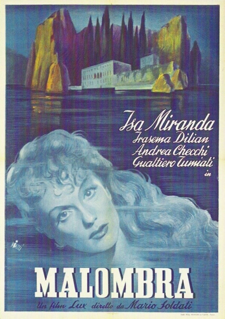 Malombra (1942 film) movie poster
