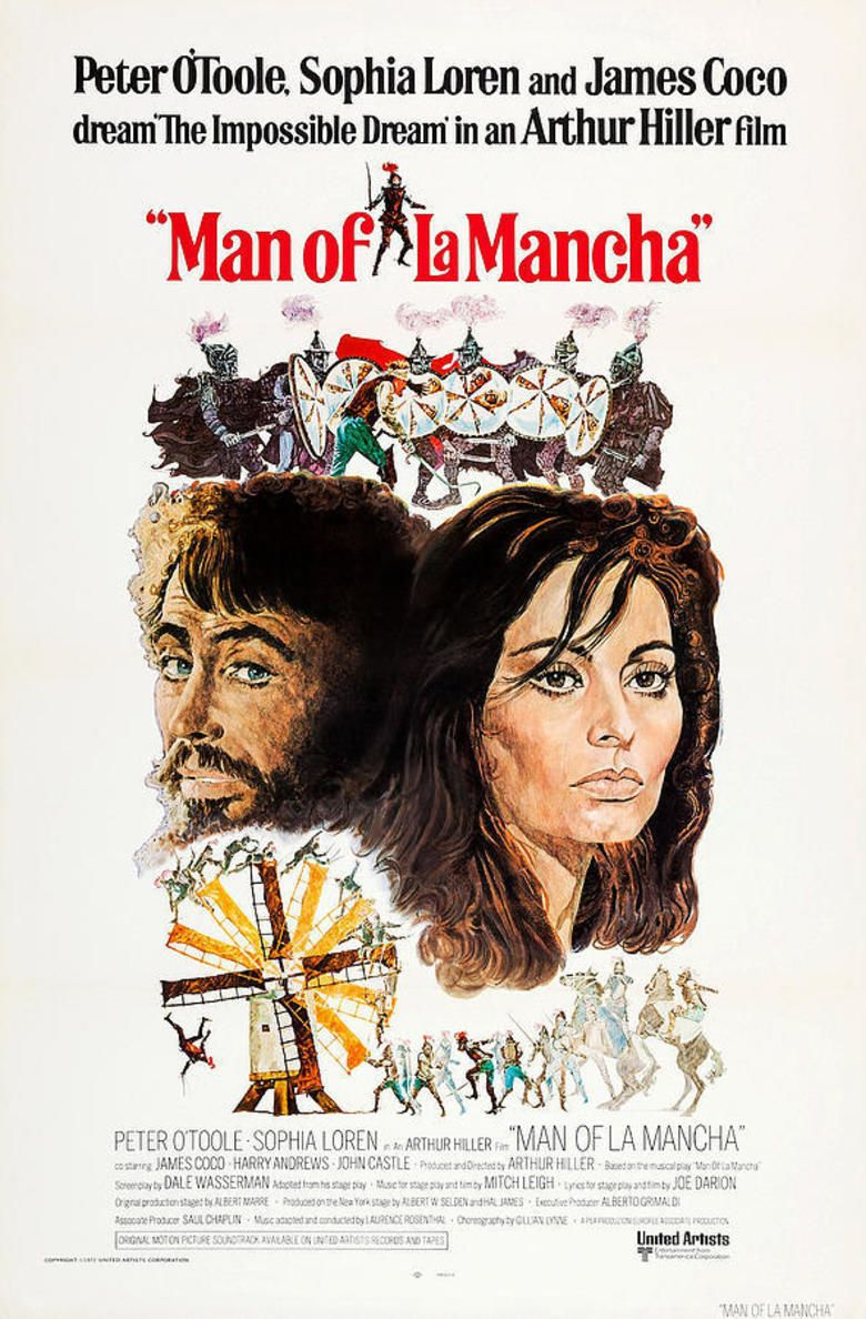 Man of La Mancha (film) movie poster
