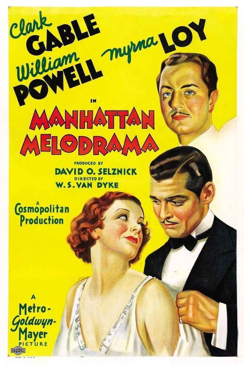 Manhattan Melodrama movie poster