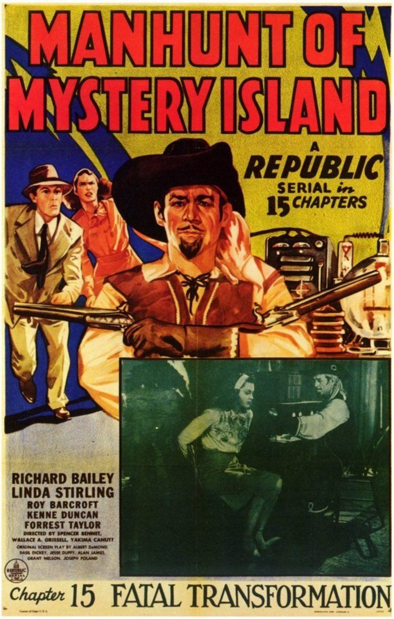 Manhunt of Mystery Island movie poster