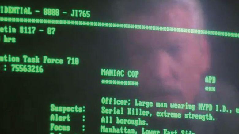 Maniac Cop movie scenes