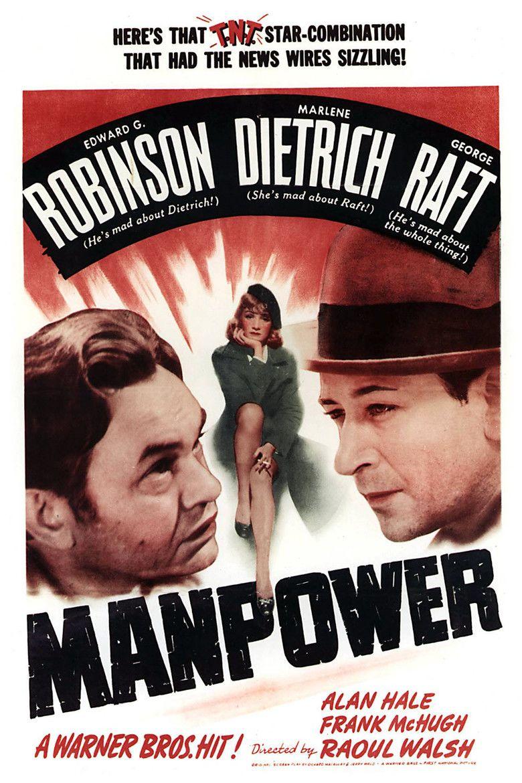 Manpower (1941 film) movie poster