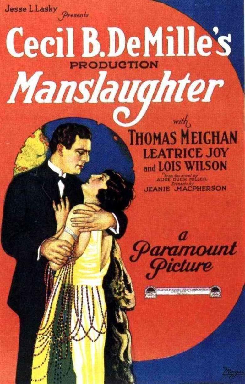 Manslaughter (1922 film) movie poster