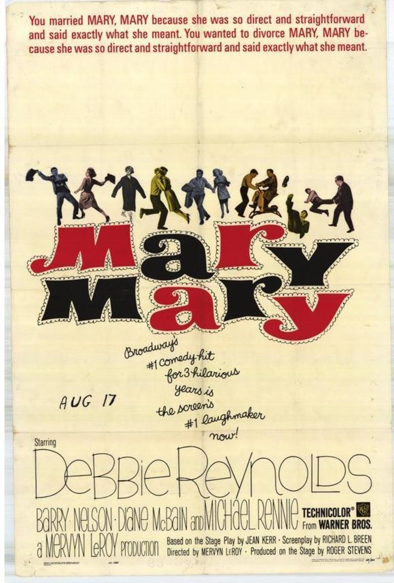 Mary, Mary (film) movie poster