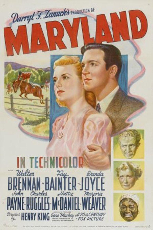Maryland (1940 film) movie poster