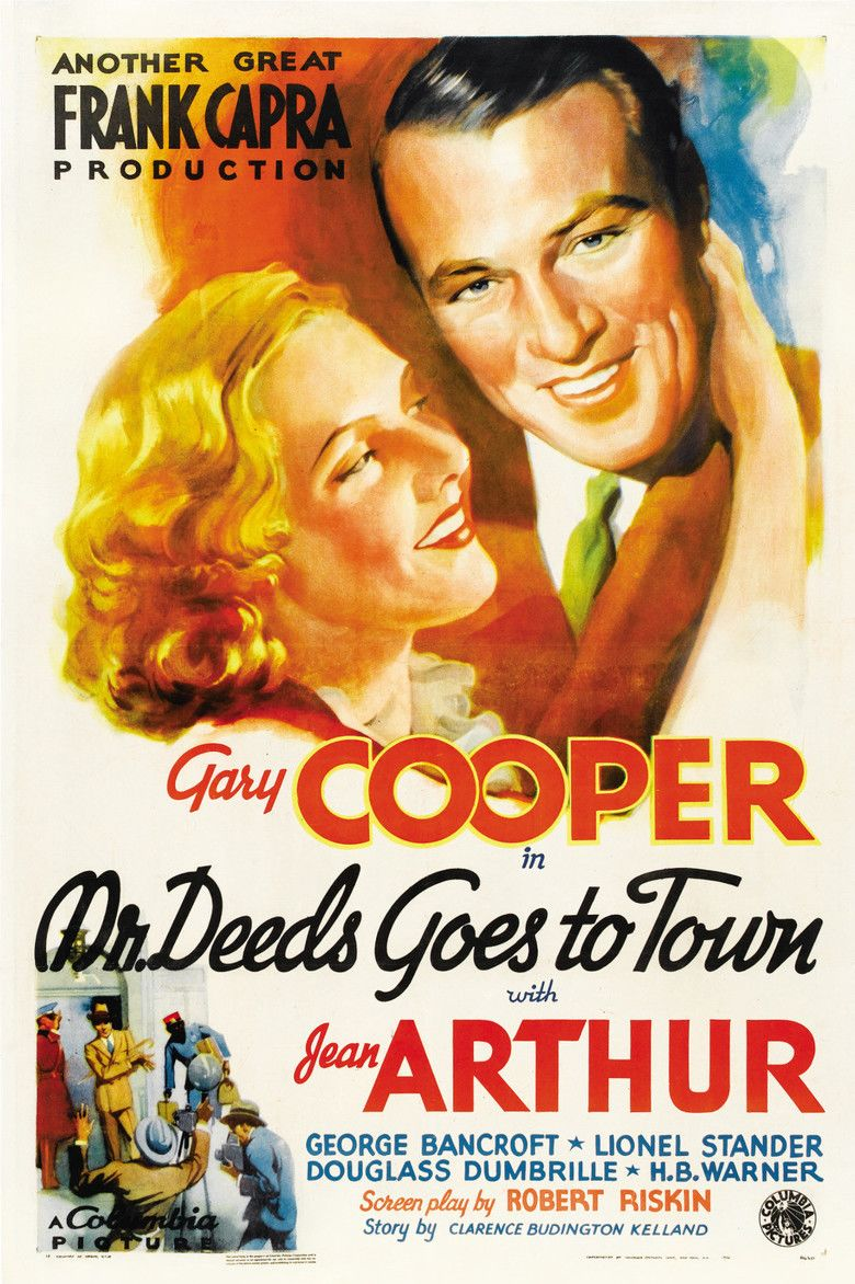 Mr Deeds Goes to Town movie poster