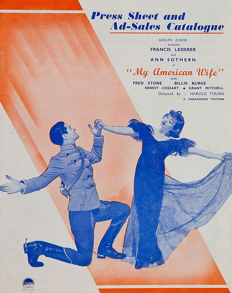 My American Wife (1936 film) movie poster