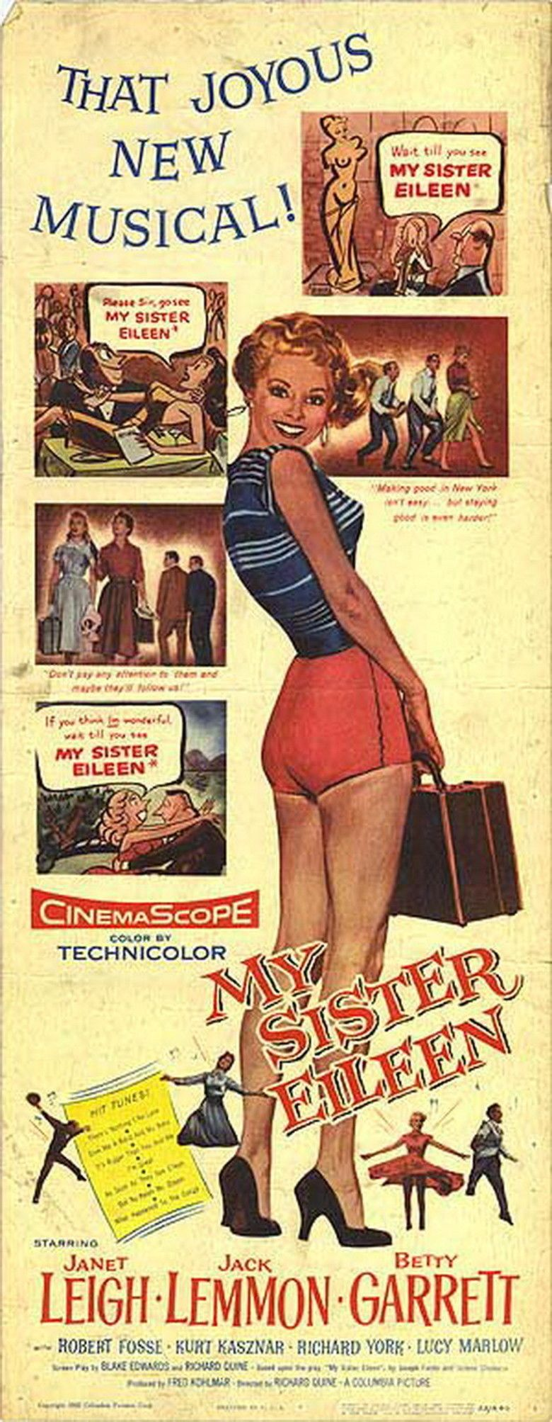 My Sister Eileen (1955 film) movie poster