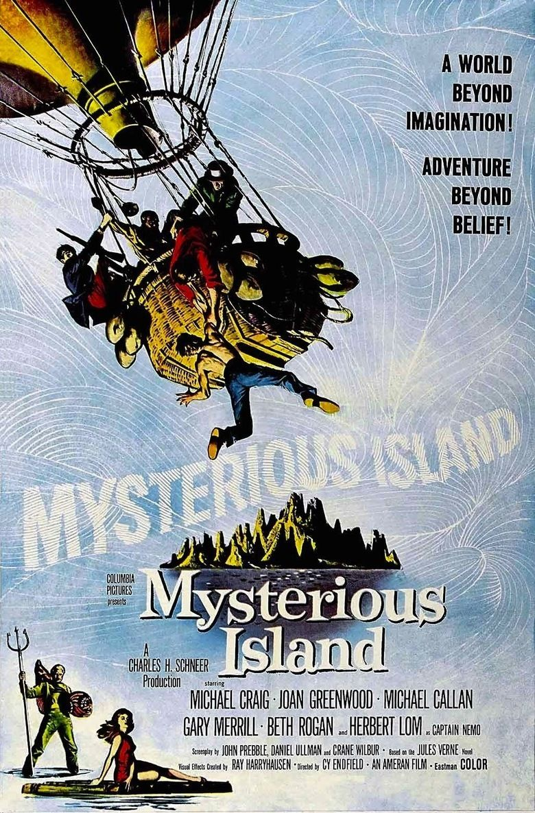 Mysterious Island (1961 film) movie poster