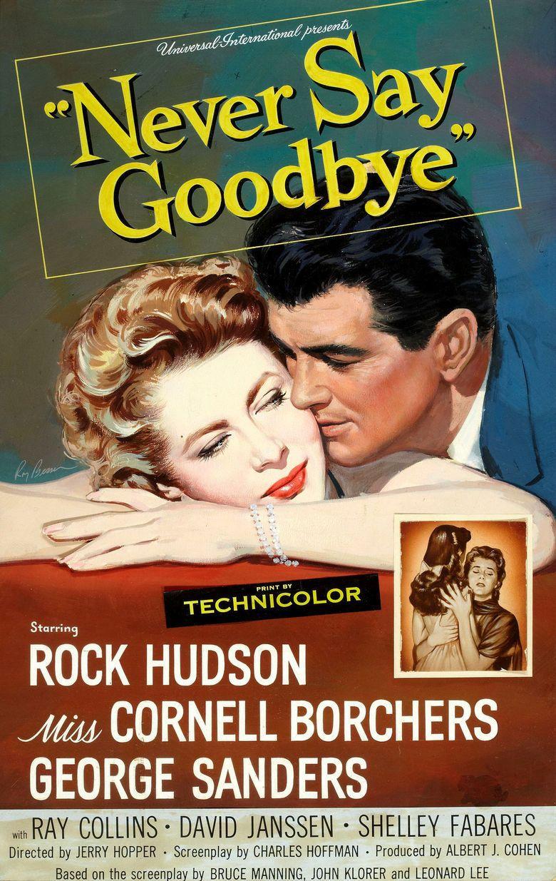 Never Say Goodbye (1956 film) movie poster