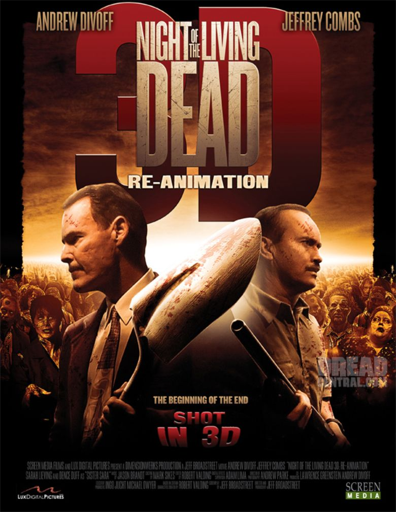 Night of the Living Dead 3D: Re Animation movie poster