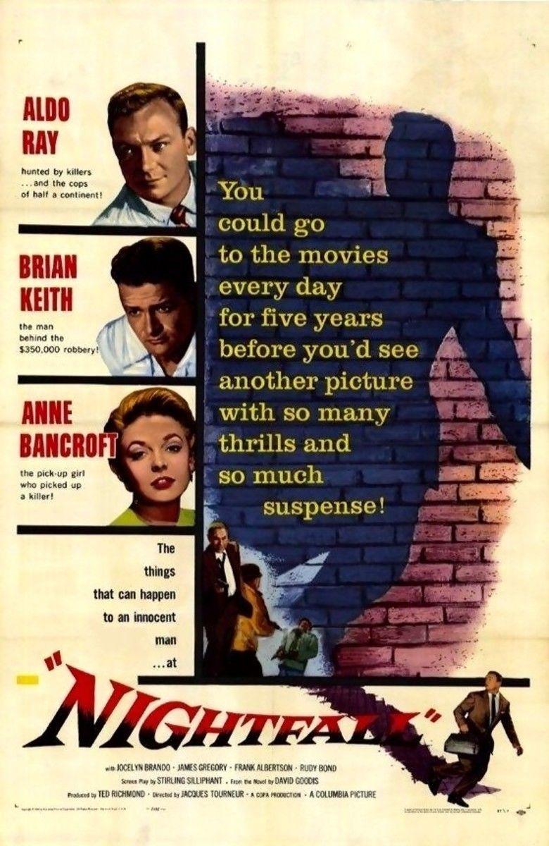 Nightfall (1957 film) movie poster