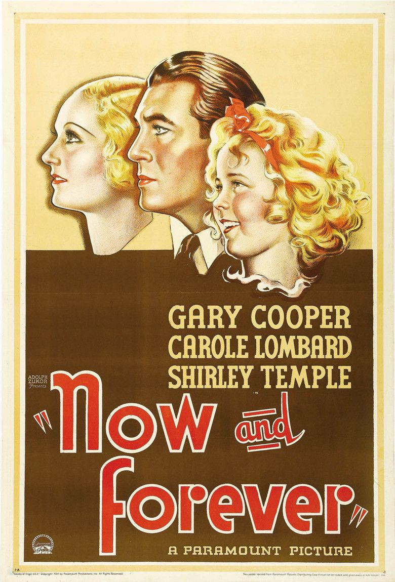 Now and Forever (1934 film) movie poster