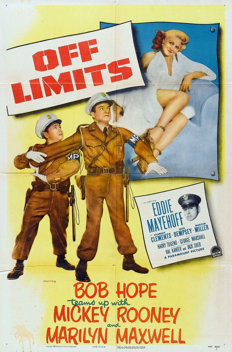 Off Limits (1953 film) movie poster