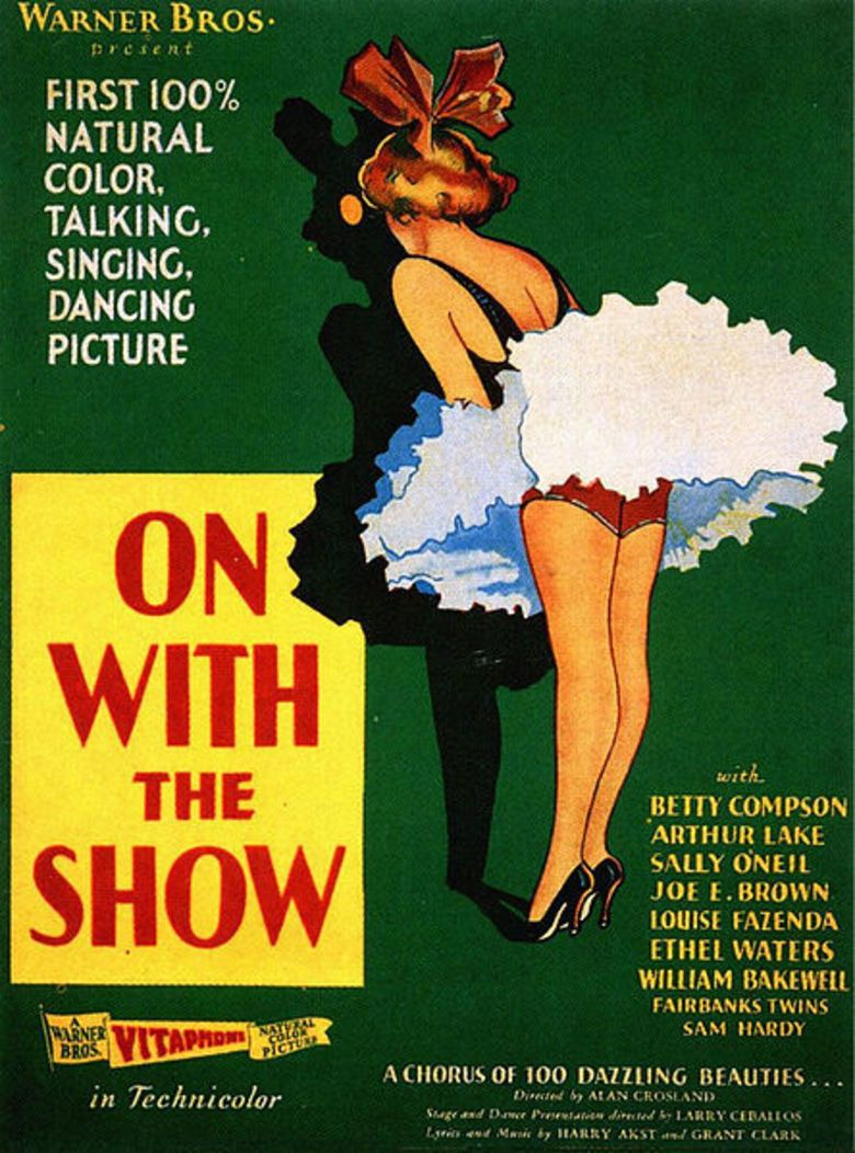 On with the Show (1929 film) movie poster