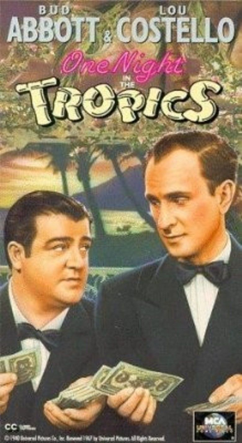 One Night in the Tropics movie poster