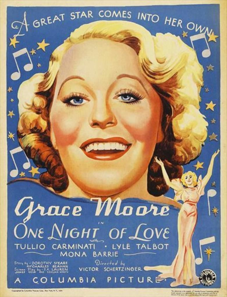 One Night of Love movie poster
