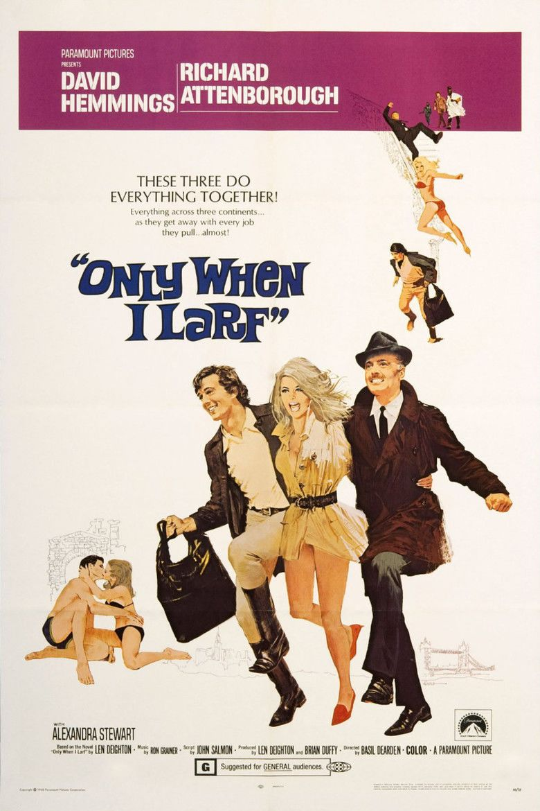 Only When I Larf (film) movie poster