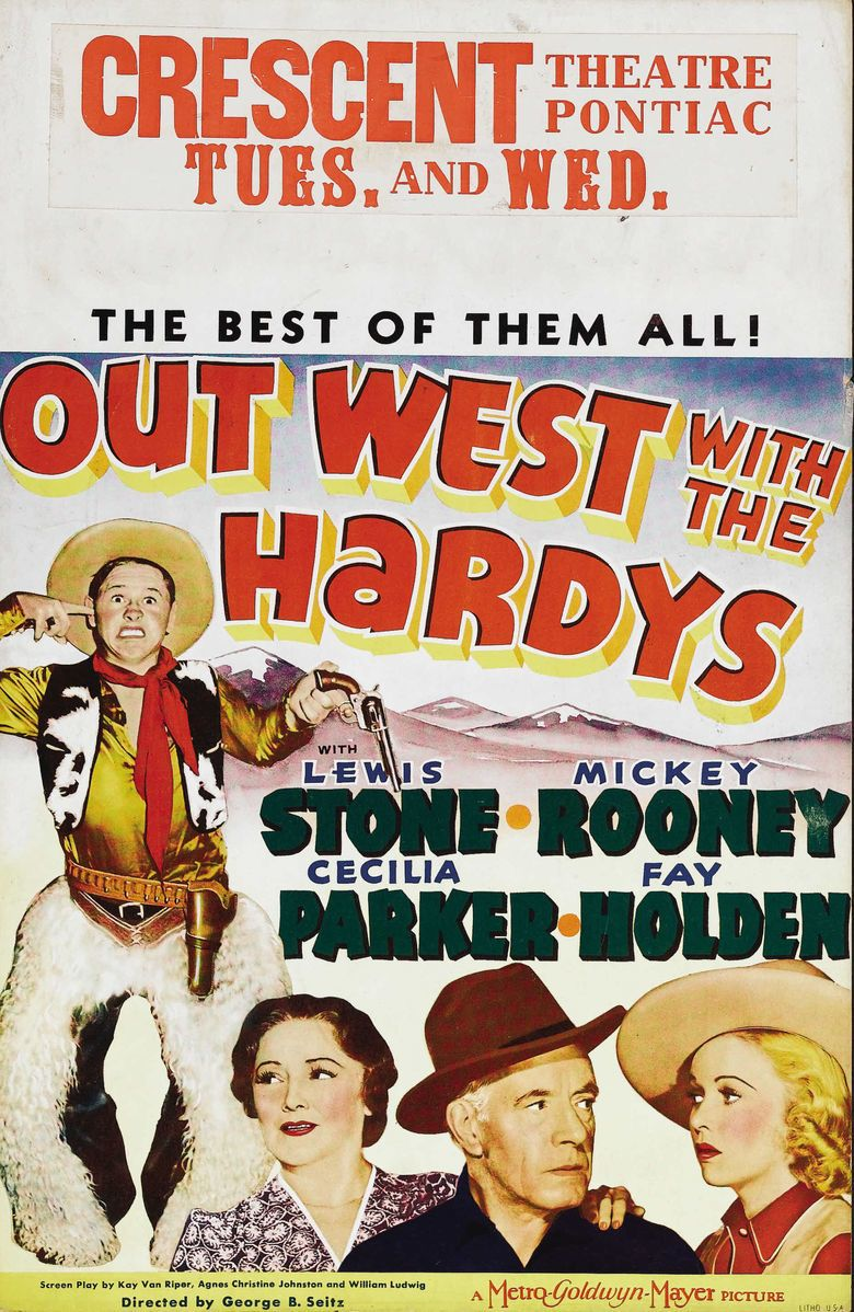 Out West with the Hardys movie poster