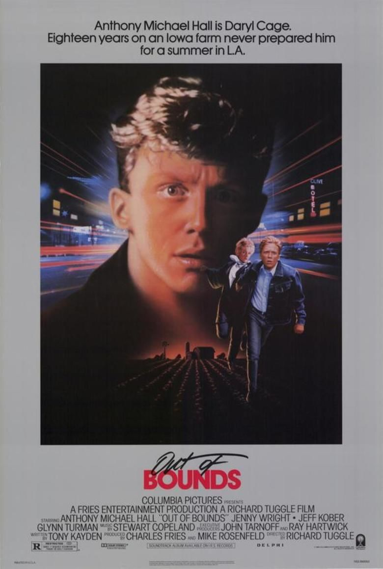 Out of Bounds (1986 film) movie poster