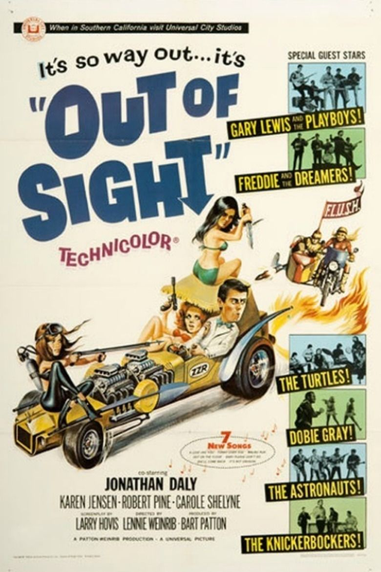 Out of Sight (1966 film) movie poster