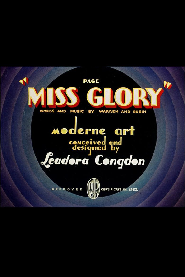 Page Miss Glory (1936 film) movie poster