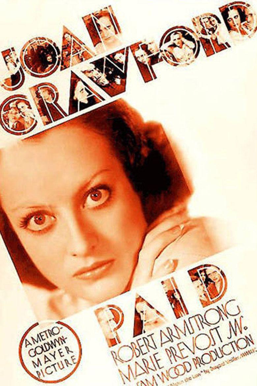 Paid (1930 film) movie poster