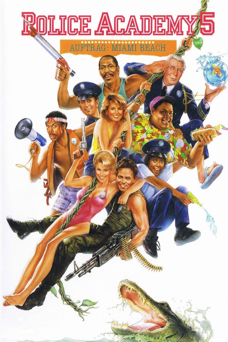 Police Academy 5: Assignment Miami Beach movie poster
