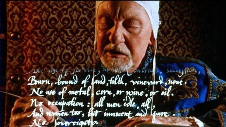 Prosperos Books movie scenes