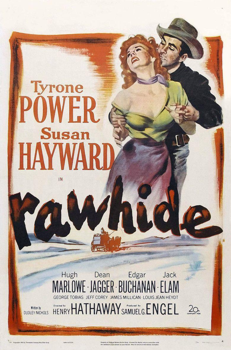 Rawhide (1951 film) movie poster