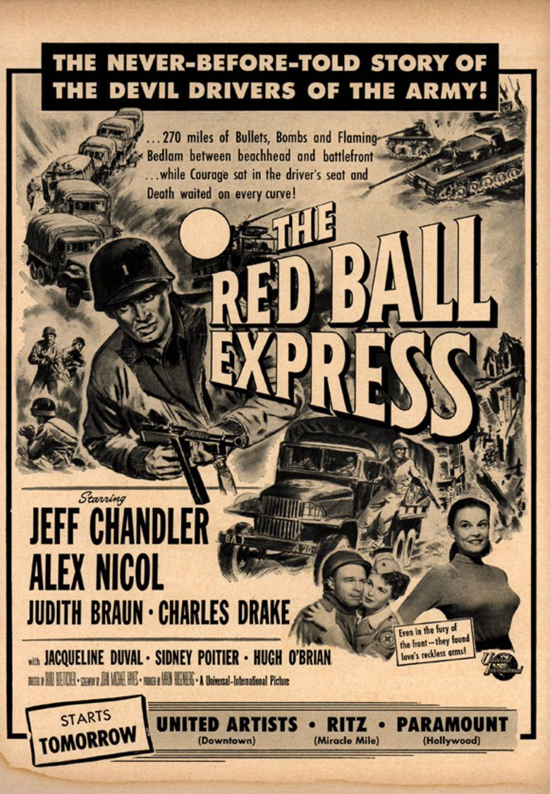 Red Ball Express (film) movie poster