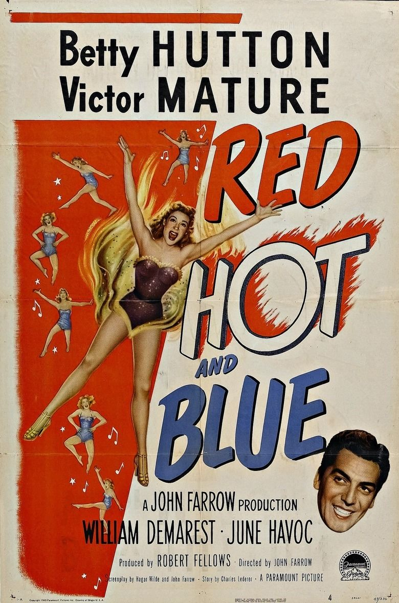 Red Hot And Blue Film Movie Poster