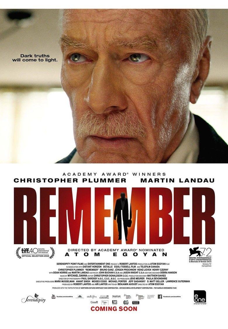 Remember (2015 film) movie poster