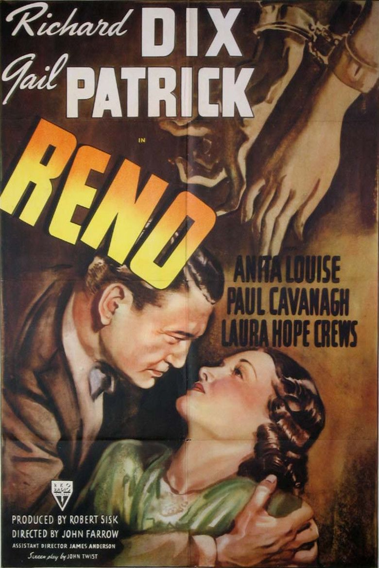 Reno (1939 film) movie poster