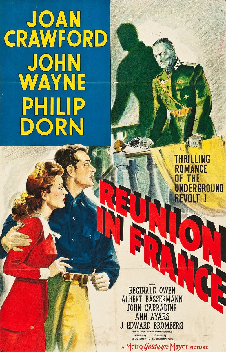 Reunion in France movie poster