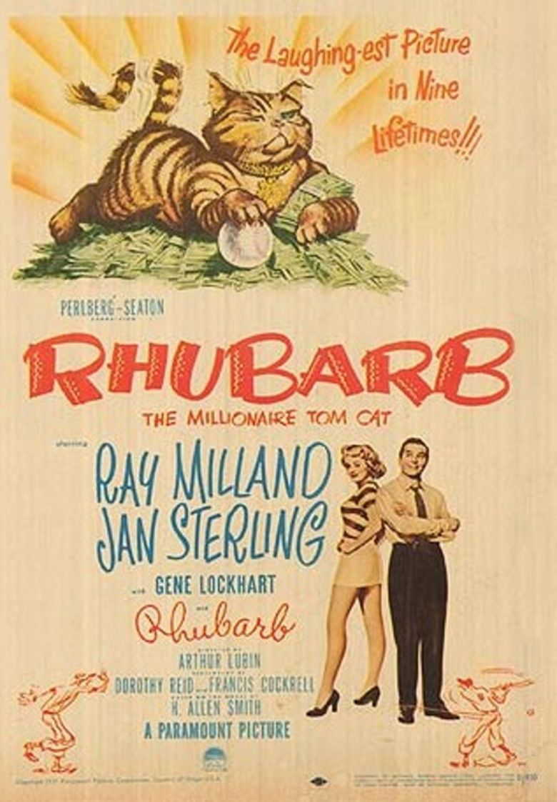 Rhubarb (1951 film) movie poster