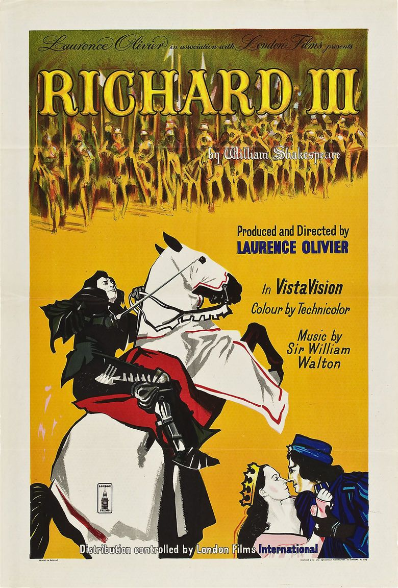 richard iii 1955 film the social encyclopedia richard iii 1955 film movie poster