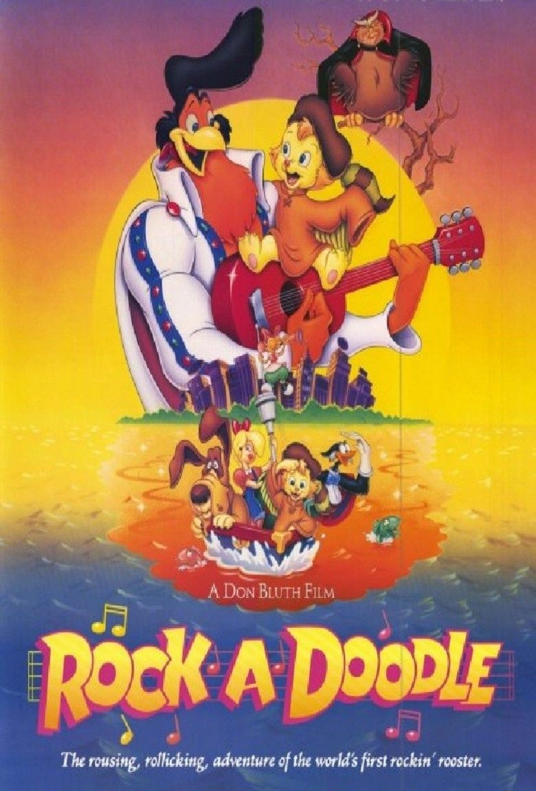 Rock a Doodle movie poster