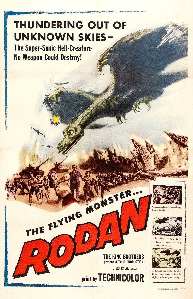 Rodan (film) movie poster