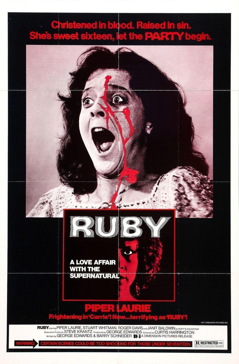 Ruby (1977 film) movie poster