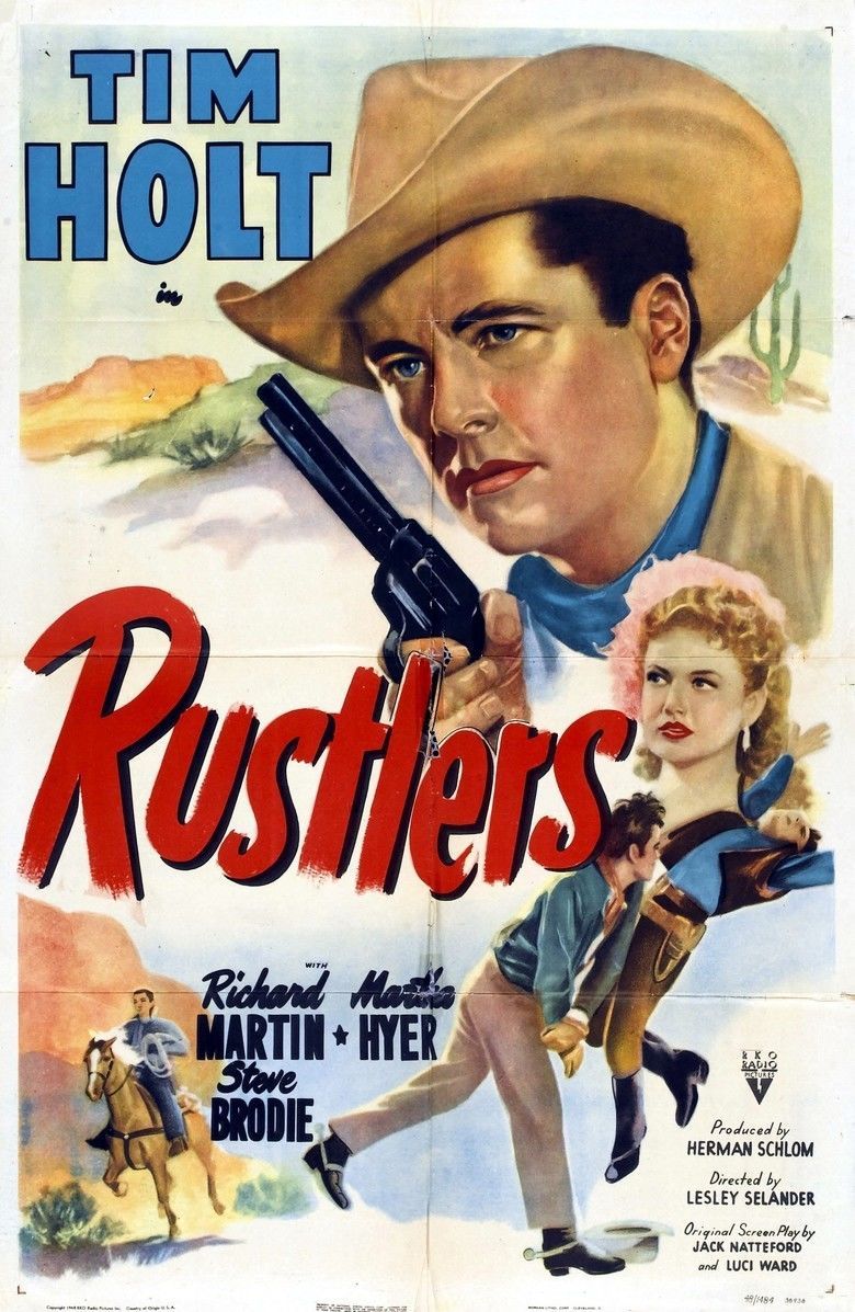 Rustlers (1949 film) movie poster