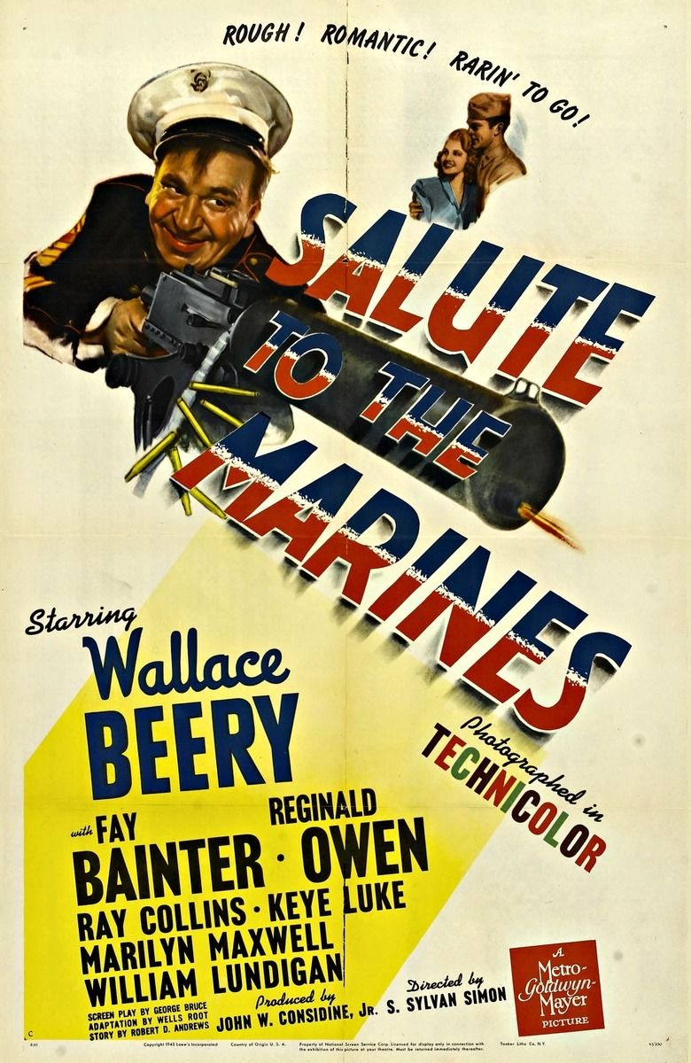 Salute to the Marines movie poster
