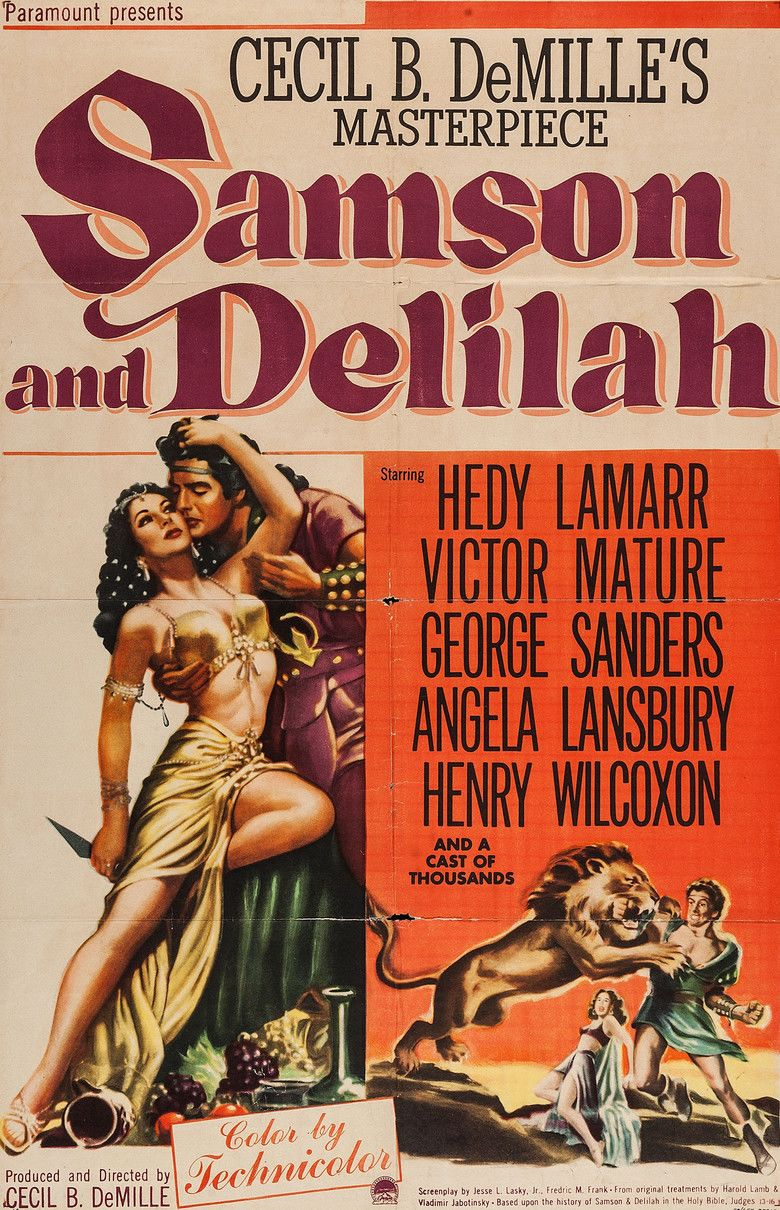 Samson and Delilah (1949 film) movie poster